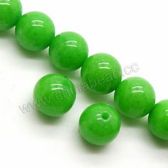 Gemstone Beads, Mountain Jade, Light green, Smooth round, Approx 8mm, Hole:Approx 1mm, Sold per 16-inch strand