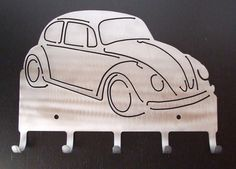 VW Beetle Bug key rack by SpeedWagonMetalArt on Etsy, $18.99