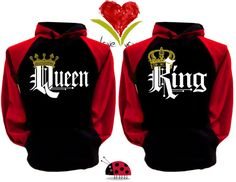 Price For 2 Hoodies  King and Queen Perfect by GastonLadybird
