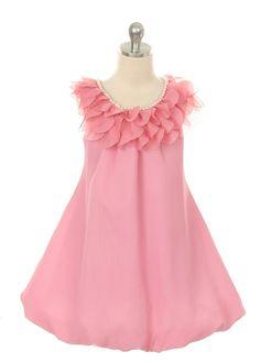 Dusty Rose Yoru Chiffon Flower Girl Dress