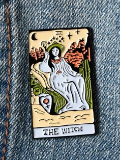 Witch Tarot Enamel Pin - Gypsy Warrior