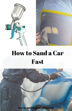 car painting To take the paint off a car quickly, we recommended to use an orbital sander. Pros have access to industrial sand blasting machines that crush sanding a car in way less time than At home DIYers. Car Paint Repair, Car Repair, Auto Paint, Truck Paint Jobs, Best Paint Sprayer, Sanding Tips, Car Painting, Spray Painting, Auto Body Work