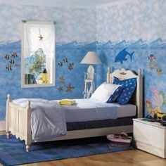 Ocean Themed Bedroom Decor Chick Sea Theme Home Design And Decorating Pics