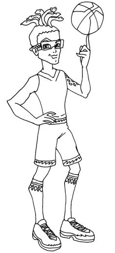 Deuce Gorgon Best Of Basketball Coloring Pages