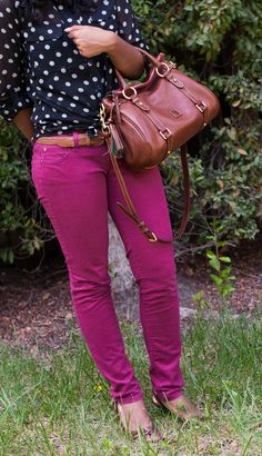 Polka Dots and Colored Jeans