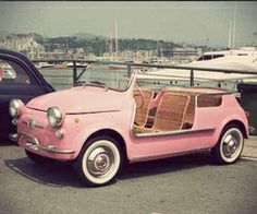 Who doesn't want a super cute pink car?
