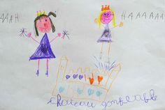 """Dessin d'une petite fille de 6 ans envoyé sur lalittlegallery.com pour le concours """"dessine ton rêve"""""""