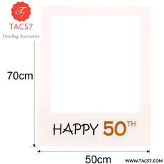 Happy Birthday 30th 40th Photo Booth Props 30 40 50 years Birthday Frame Photo Photo booth Anniversary Party Decorations