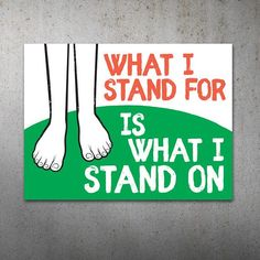 What I Stand For PRINTABLE Protest Poster | What I Stand On, Climate March, Climate Change, Trump Pr