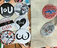 8 x Vivienne Westwood Political Pin Badges. Worlds End. Battle East Sussex, Love K, End Of The World, Pin Badges, Vivienne Westwood, New Wave, Business Women, Politics, The Originals