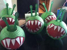 Skylanders Chompies made from paper lanterns
