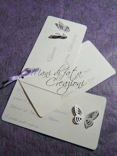 Partecipazione matrimonio  farfalle - Wedding butterfly invite
