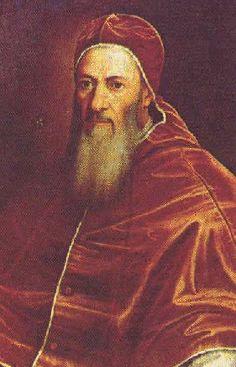 """Retrato do Papa Júlio III"".  (221º Papa). Nome: Giovanni Maria Ciocchi del Monte. * Roma, 10/Setembro/1487 - Roma, 23/Março/1555)."