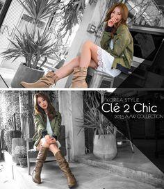 Cle 2 Chic-正韓-MA1尼龍拉鍊長袖夾克外套-(軍綠) $1,290