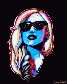 Oil Pastel of Lady Gaga