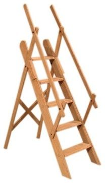 Westminster Oak Library Ladder - traditional - Ladders And Step Stools - Brandi