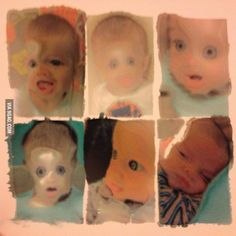 Printed some photos of my son using the wrong side of the photo paper... nightmare fuel