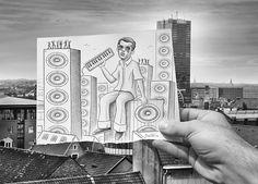 My new hero Ben Heine. multidisciplinary artist, art, pencil drawing, photography, political cartoonist, Belgian, pencil vs camera, digital circlism, project, the D-Photo, artwork, beautiful, creative, amazing, fantastic, awesome)