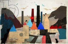 Bolton Mills, 1938 (collage), by Julian Trevelyan