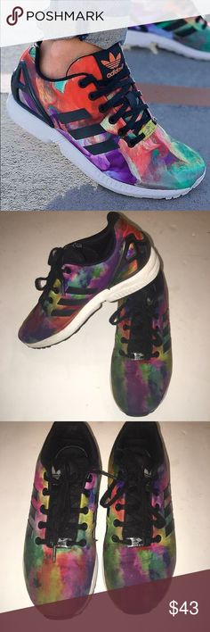 Adidas TORSION tie dye sneakers In excellent condition. The only flaw is one adidas stripe has lifted on the corner adidas Shoes Sneakers