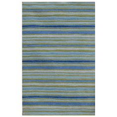 @Overstock.com - Primary materials: Wool, viscose  Pile height: 0.5 inches    Style: Contemporary   http://www.overstock.com/Home-Garden/Hand-tufted-Blue-Stripe-Wool-Rug-5-x-8/6277567/product.html?CID=214117 $228.64