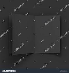 Black blank magazine spread. Business mockup template. Presentation of your branding and identity design. Vector Illustration EPS10.