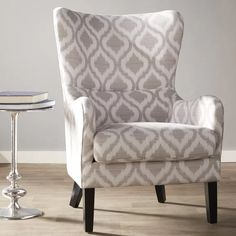 Shives Wingback Chair by Alcott Hill Chair Upholstery, Upholstered Dining Chairs, Dining Chair Set, Chair Cushions, Dining Room, Chair Fabric, Wingback Chairs, Swivel Barrel Chair, Swivel Armchair