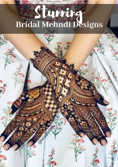 Beautiful back of hand henna design for brides. Also, check out 7 stunning brida. Back Hand Mehndi Designs, Indian Mehndi Designs, Stylish Mehndi Designs, Wedding Mehndi Designs, Mehndi Design Pictures, Beautiful Henna Designs, Wedding Henna, Beautiful Mehndi, Mehndi Images