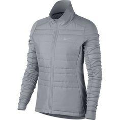 Nike Women's Essential Full Zip Running Jacket, Gray