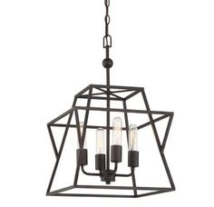 "View the Quoizel BWK5204 Berwick 4 Light 14"" Wide Single Tier Chandelier at LightingDirect.com."