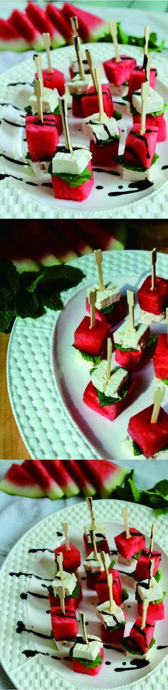 balsamic, cheese, dessert, fresh, fruit, mint, recipes, watermelon