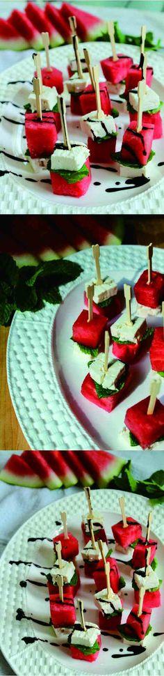 balsamic, cheese, dessert, fresh, fruit, mint, recipes, watermelon