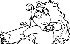 Coloring Page . Arthur Birthday Party . PBS Parents