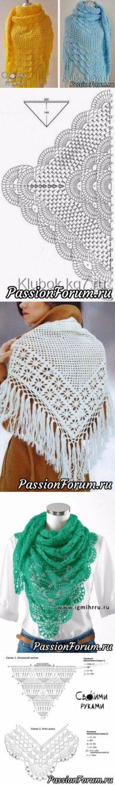 Beautiful shawls circuit crochet +