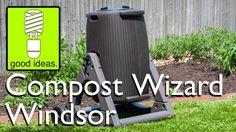The Compost Wizard Windsor is the next step in vertical composters. With its patented RotoLok design, the unit can help you tackle heavy loads of compost wit. Composters, Windsor, Projects, Log Projects, Compost