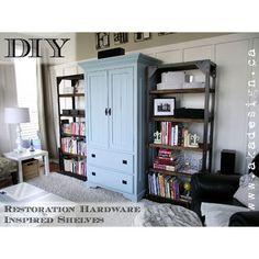 Restoration Hardware Home Decor DIY Hacks - The Cottage Market Art room.