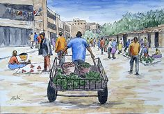 Stephen Mbatia was born in Murang'a, Kenya, just before the independence of Kenya, in He is well known to Nairobi art lovers. Being a keen observer of African Art, Lovers Art, Landscape, Kenya, Artist, Painting, Scenery, Artists, Painting Art
