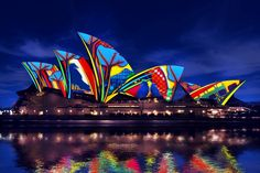 Sydney Opera explodes in vivid colours during Vivid Sydney!
