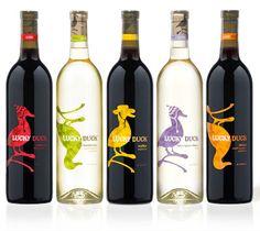 "Wine Label ""Lucky Duck"""