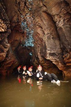Waitomo Caves Gloworms & Blackwater Rafting , NZ