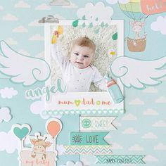 Baby Scrapbook gestalten - So scrappst Du ein wunderschönes Babyalbum. Baby Album Vorlagen mit unseren Scrapbook erhältst Du alles was Du zum Scrapbooken brauchst #babyalbum #scrapbooking #scrapbook #erinnerungen #baby