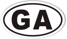 GA Georgia Oval Sticker
