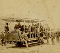 Australia's first suburban electric tramway service at the Box Hill terminus on opening day, 14 October 1889.