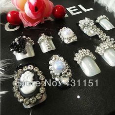 Aliexpress.com : Buy Custom Made noblewoman high quality exquisite french 3d fake nail tips from Reliable the nails suppliers on Sisi Nail $35.00