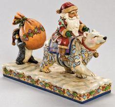 Santa With Polar Bear - Jim Shore Santa Figurines 4005320 | ENESCO