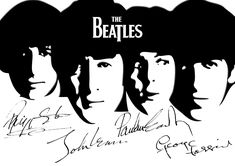 The Beatles 11 Signed Black And White Poster English Rock Music Band Star Photo The Beatles 1, Beatles Poster, Beatles Lyrics, Beatles Band, Black And White Cartoon, Black And White Posters, Black And White Painting, Band Wallpapers, Cartoon Posters