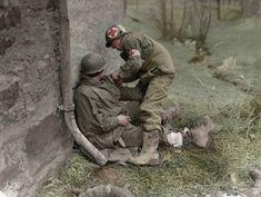1944년 6월 6일 라이프지(LIFE magazine) 사진기자 로버트 카파(Robert Capa)가 1 보병사단(the 1st ...