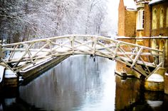 Mathematical Bridge: winter in Cambridge