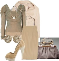 """""""Chic and Slightly Shabby with Donna Karen"""" by rhondahenninger1 on Polyvore"""