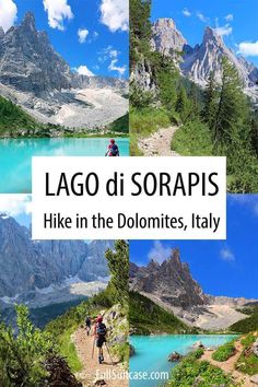 Lago di Sorapis hike in the Dolomites Italy Italy Travel Tips, Travel Destinations, Beautiful Places To Visit, Places To See, Exotic Beaches, Visit Italy, Best Hikes, Romantic Travel, Hiking Trails